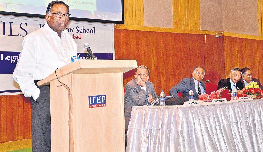 Justice-Chelameswar-shares-insights-at-ICFAI
