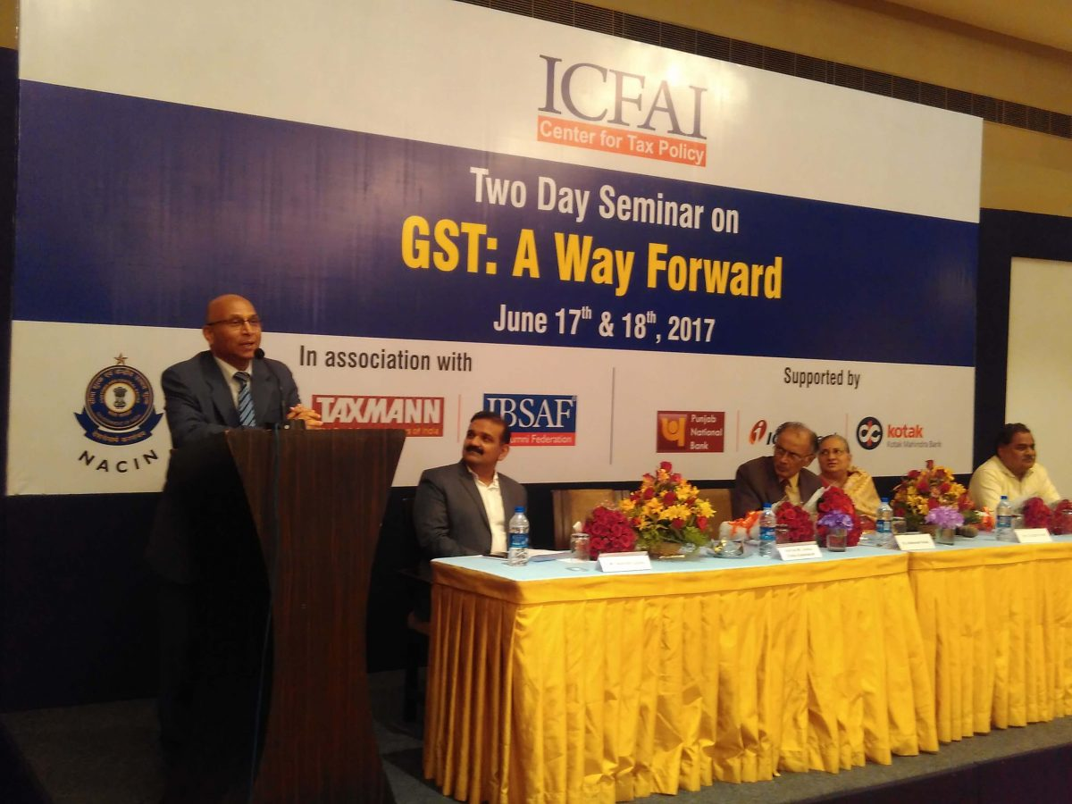 Hon'ble Mr Justice Challa Kodandaram addressing the deligates at GST Seminar